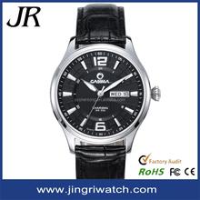 Top brand waterproof leather watch straps wholesale slim stone quartz watch