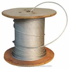 Hot Soft 1x19 steel wire rope 1x7 1x19 7x7 black annealing Jiangsu Mill price