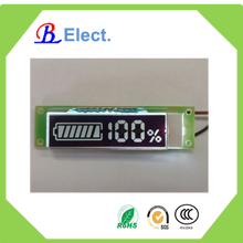 charger negative character lcd display,white led ,battery segment small flexible display
