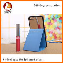 Window PU Leather Cases Fit For iPhone 6 Plus PU case With Handfree Design