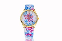 2015 new lovely flower watches for lady