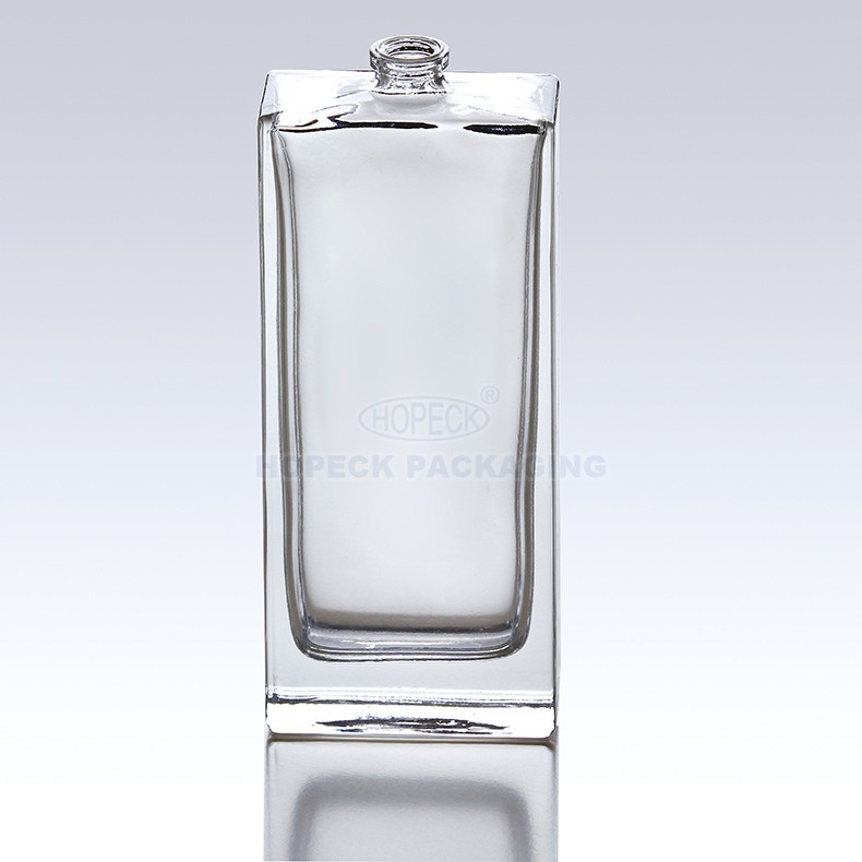 Perfume glass bottle with snap on / screw on neck