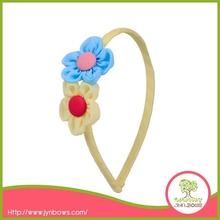 Fall Kids Chiffon Flower Headband with Button