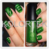 Green Color 3D Magnetic Nail Powder, Green Magnetic Pearl Pigments For Nail Polish