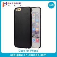 Factory direct simple pu leather phone case for iphone 6