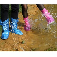 The rain proof boots set of thickening bottom female flat with waterproof with high wear-resisting PVC shoe covers