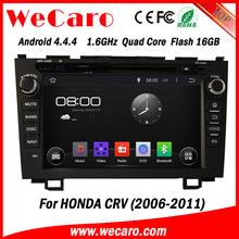 "Wecaro android 4.4.4 car gps navigation oem 8"" car multimedia system for honda crv bluetooth 2006 - 2011"