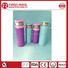 350ml new style flask water bottle,stainless steel bottle with cup lid