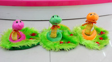 14cm bright colors soft toy snake on grass