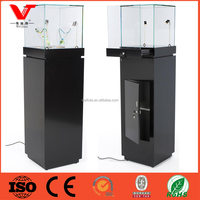 Jewelry pedestal display case, jewelry exhibition glass showcase