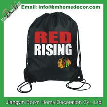 Nylon Drawstring Bag Book Sport Shoe Gym Cinck Drawstring Back Sack