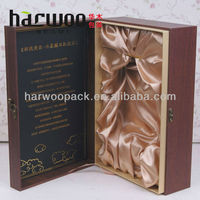 High-end cardboard wine bottle box for 1 bottle