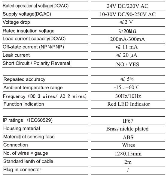 M18 Flush Shielded Capacitive Proximity Sensor Switch Npn Or Pnp 3 ...