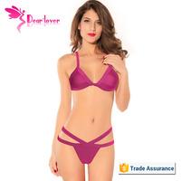2015 Cheap wholesale Black Strappy Young Girl Sexy Bikini