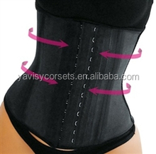 2014 neew arrival plus size waist training corsets wholesale rubber corsets