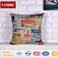 Trade Assurance Creative Vintage Pattern Printed Design Custom Cushion Home Decor Pillow Case Sublimation Pillow Case