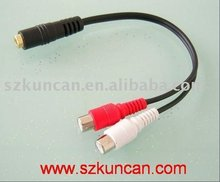 RCA CABLE Audio/Video cable 2 RCA female to DC3.5 female (KCA-017)