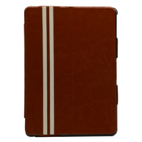 2015 fashion customized tan flip cover case for tablet for ipad air2