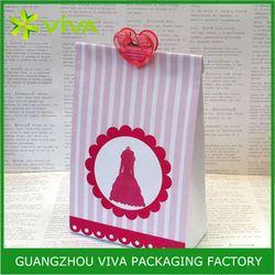 Best design paper ribbon tie gift bags