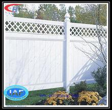Cheap pvc garden privacy fence