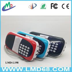 Pocket Mini USB TF Card Radio Speaker with Excellent Sound SystemL-198