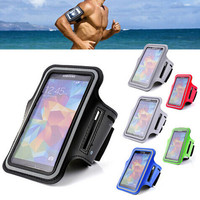 2015 Newest Sports Adjustable Armband Key Holder For Samsung Galaxy S4 i9500 Gym Case Pouch