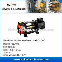 gearless traction motor for elevator