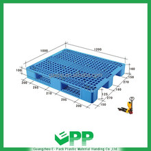 EPP-S1200*1000mm HDPE Shipping Single Face Euro Plastic Pallet Size Price