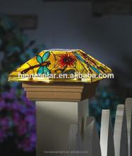 Butterfly Solar Fence Light Post Cap for Garden Decor