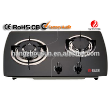 2 Burner Gas Stove with Glass Top