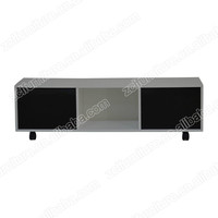 high gloss PU painting TV stand with two cabinet