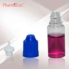 10ml PET thin tip plastic bottle with childproof cap E-liquid