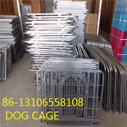 large stainless steel folding dog cage crate with wheels