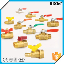 "RX 1169 1/4""3/8""1/2"" npt bsp brass hose valve bronze ball valve with lock plastic mini ball float valve"