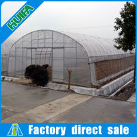 Cheap plastic film cover greenhouse in agricultural for sale