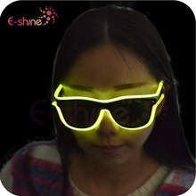 Halloween Decoration EL Wire Led Sunglasses Blue Color EL Wire Sunglasses