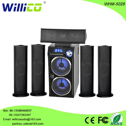 5.1 channel 6.5 inch subwoofer with USB SD FM Remote control