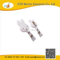Animal shape cute gift key retractable badge reels,plastic key holder