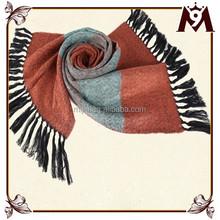 OEM custom cashmere fringe tassel wholesale scarf pashmina