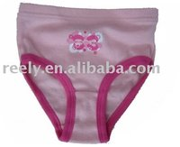 Hot fashion design girl briefs style pink children in underwear pictures