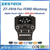 ZESTECH 8'' 2015 auto audio video gps player for Ford Mustang car dvd player