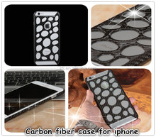 Mobile Phone Case for iPhone 5 iPhone 6 iPhone 6 plus,Cell Phone Chrome Carbon Fiber Case,For iPhone Hard Slim Case Cover