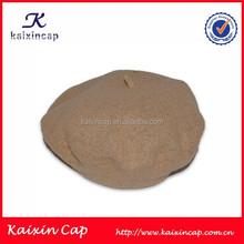 Wholesale perfect camel beret hats with size 55 cm-61 cm