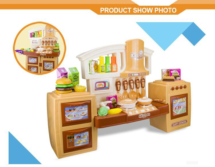 Large kids kitchen toy setwith music and light view for Kitchen set video song