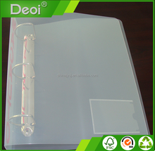 A3 A4 Clear Plastic Document Folder With Card Holder Pocket