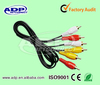 3 RCA TO RCA Plugs audio cable cheap price and good quality