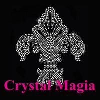 flower-de-luce rhinestone crystal motif embellishments for dresses party