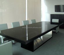 U shape black meeting desk/modern conference table for 20 seats