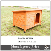 Flat and waterproof roof custom large dog cage