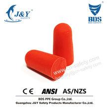2015 Hot sales PU foam noise cancelling custom earbuds earplug for airline meet CE EN352-2 ANSI AS/NZS 1270 standard